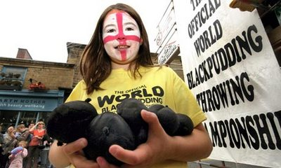 world black pudding throwing competition