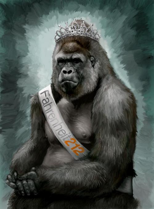 beauty queen gorilla