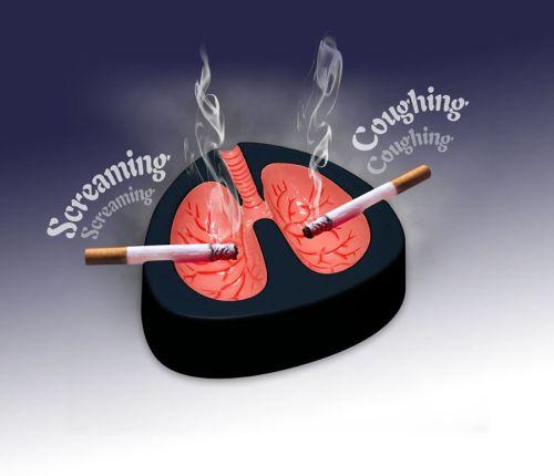 caughting ashtray