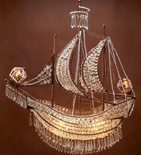 pirate ship chandelier