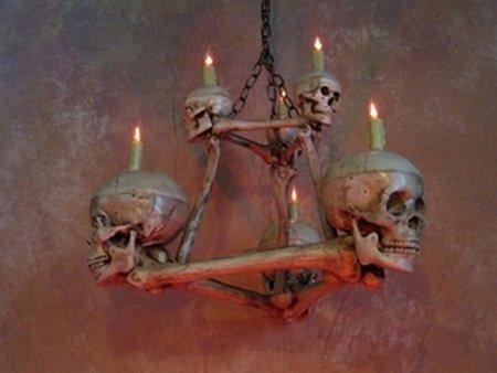 skull and bone chandelier