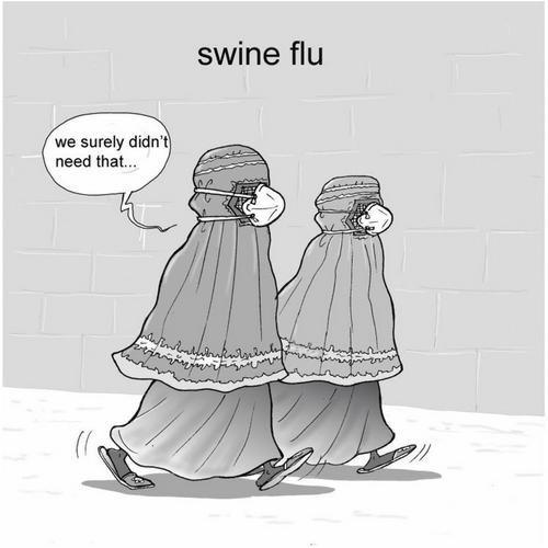 swine flu arabic women