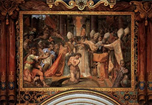 pope sylvester baptizes constantine