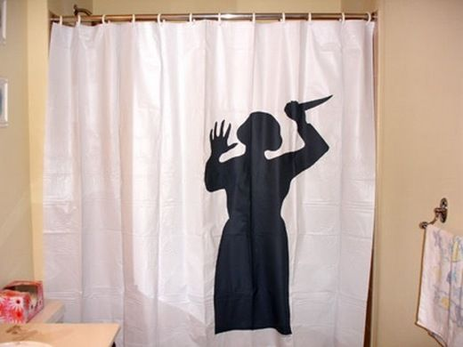 psycho shower curtain