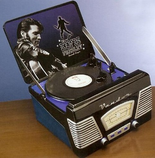 elvis turntable cookie jar