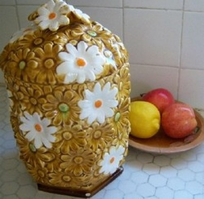 sunflower cookie jar