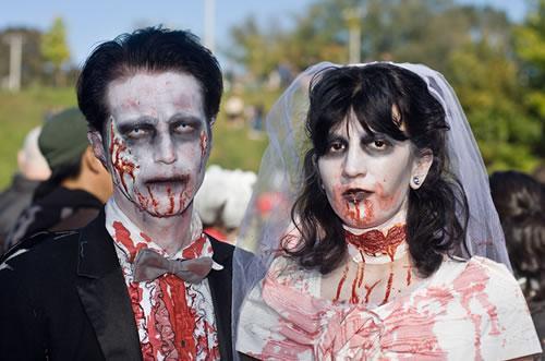 zombie wedding theme