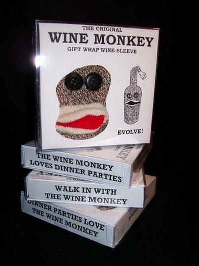 wine sock monkey