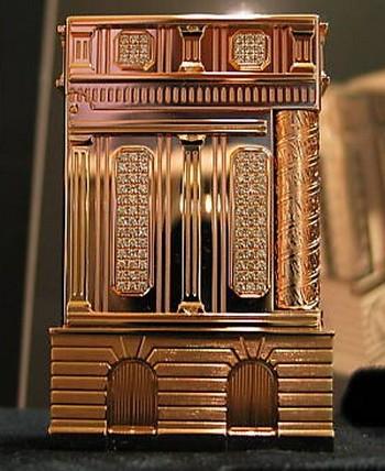 rose gold tourist souvenir lighter