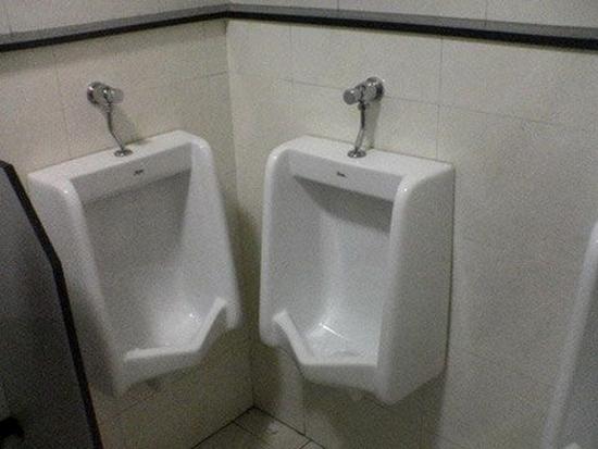 The Friendliest Urinals