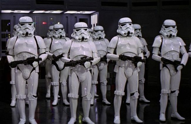 Stormtroopers are All Left Handed