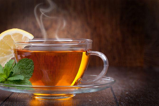The Ukrainian drinks tea.