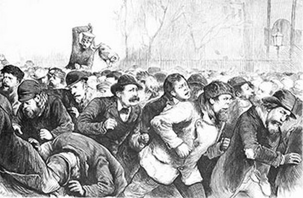 Lager Beer Riot (United States, 1855)