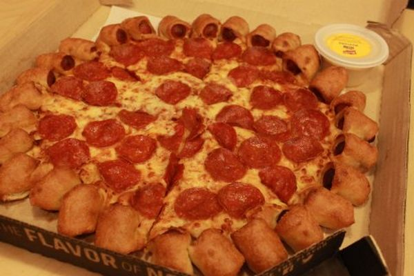 Hot Dog Stuffed Pizza Crust (Various)