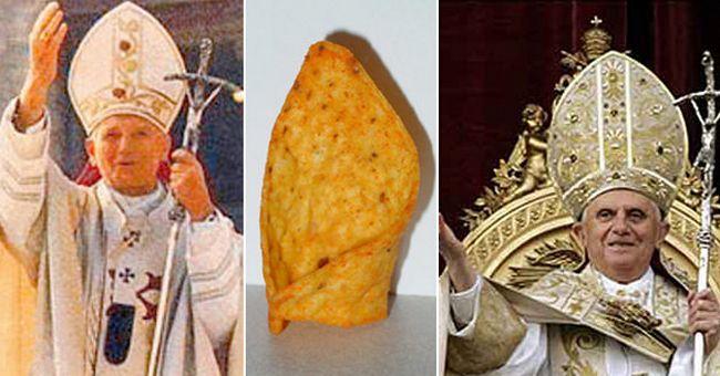 Pope's Hat Dorito Chip