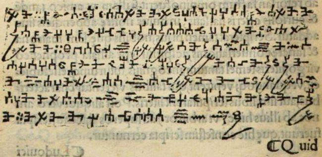 Satan's Handwriting