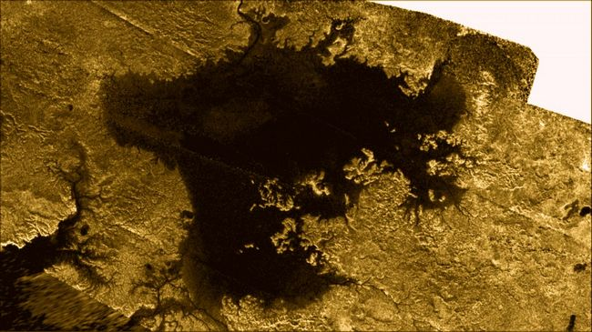 Magic Island on Saturn's Titan Moon