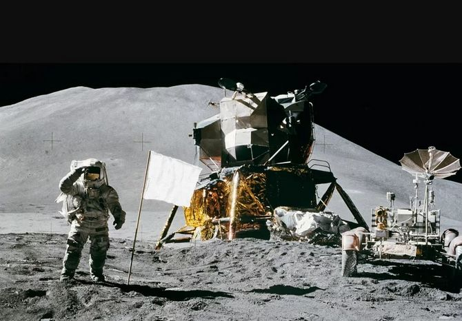 Flags on the Moon