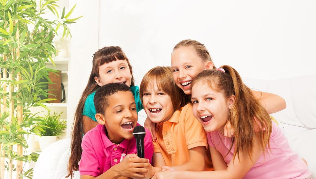 Childrens karaoke machine